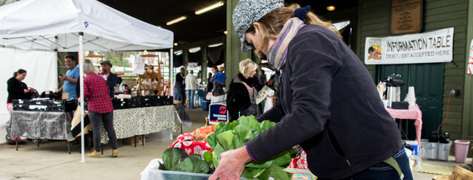 Vendor with lettuce